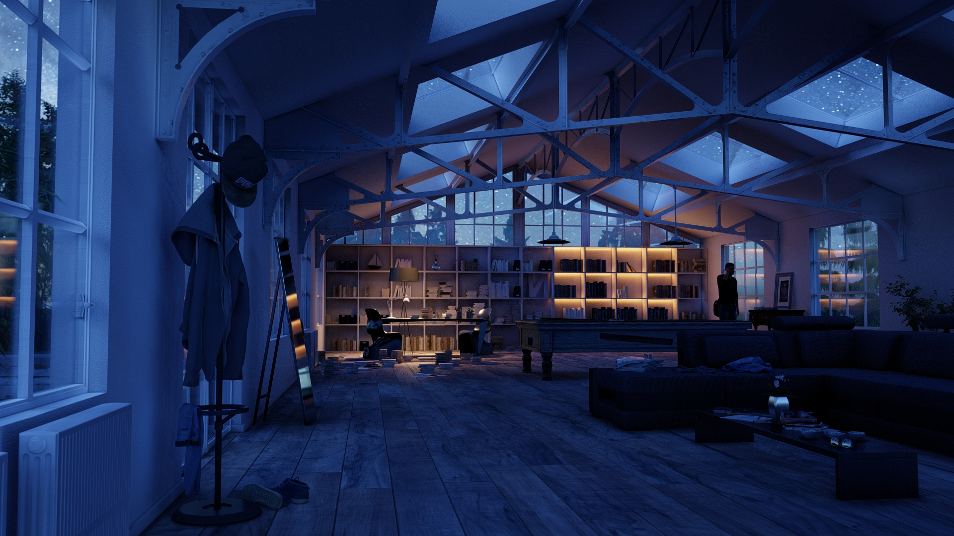 Step-by-step to quickly create this custom interior style (night update)